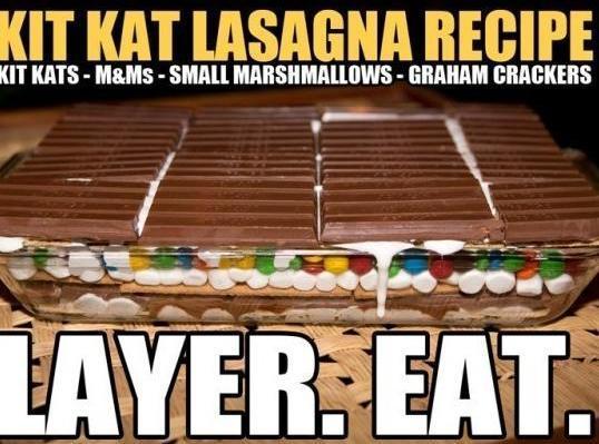 Kit Kat Lassagna Recipe
