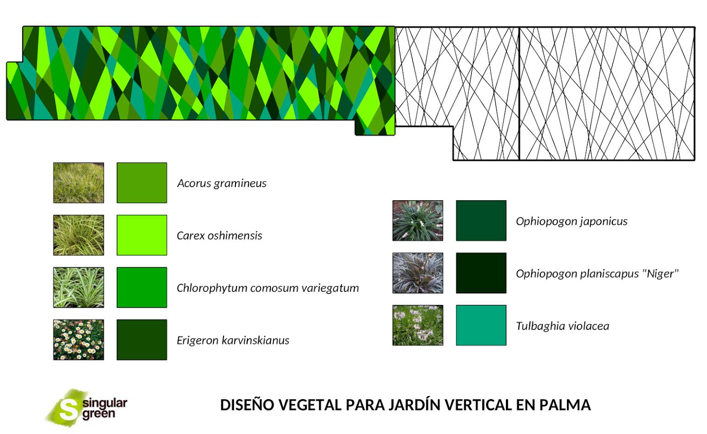 Diseño de jardines verticales en Mallorca