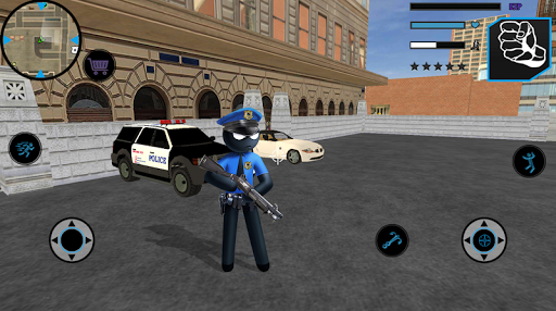 US Police Stickman Vegas Rope Hero City Gangster 2 - screenshot