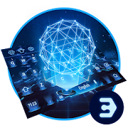 App Earth holographic 3D neon blue keyboard APK for Windows Phone