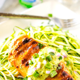 Smokey Chicken with Avocado Sauce