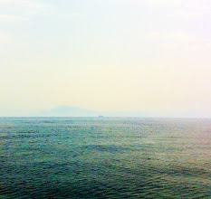 Photo: Cloudy and overcast day so we couldn't see the North African coast or Gibraltar very well from the ferry.