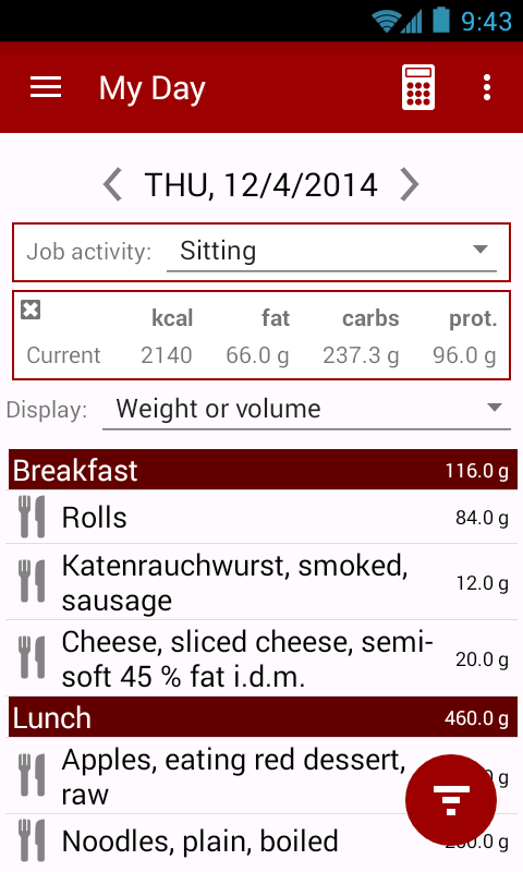 Calorie counter - Calories!- screenshot