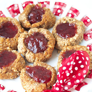 Vegan and Healthy Thumbprint Cookies