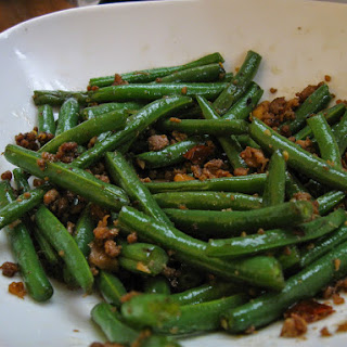 String Beans and Ground Pork