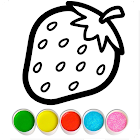 Fruits and Vegetables Coloring Game for Kids