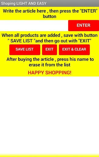 Shoping Clean & Easy 1.1 screenshots 1