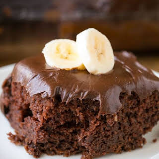 Chocolate Banana Cake.