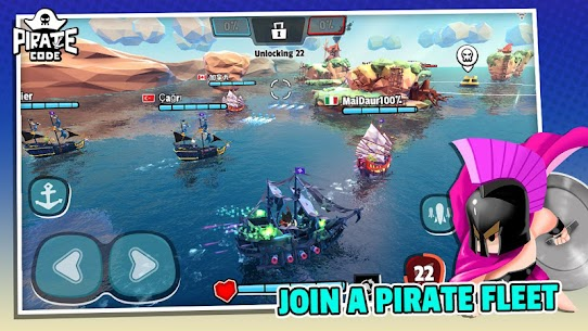 Pirate Code – PVP Battles at Sea – MOD (Speed up/Torpedo) 2
