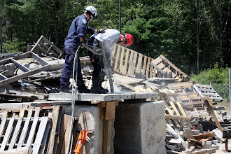 Photo: Rescue Personnel demonstrate concrete breaching