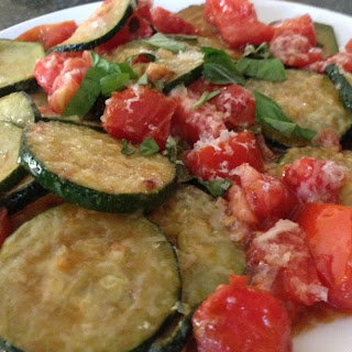 Sauteed Zucchini & Tomatoes with Parmesan Recipe