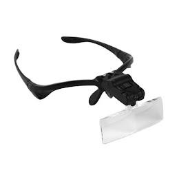 Ochelari reglabili cu 5 tipuri de lupe si LED