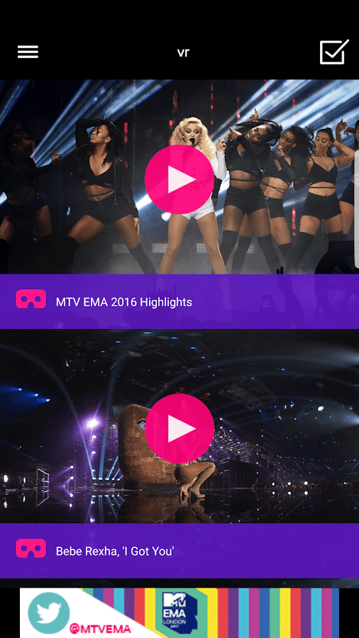 MTV EMA- screenshot