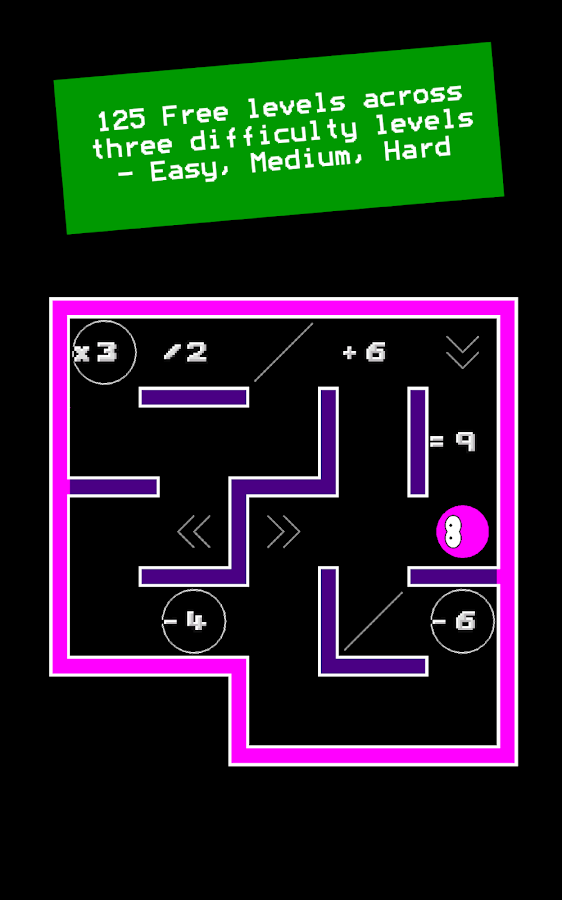 Numplussed - Number Puzzle Maze- screenshot