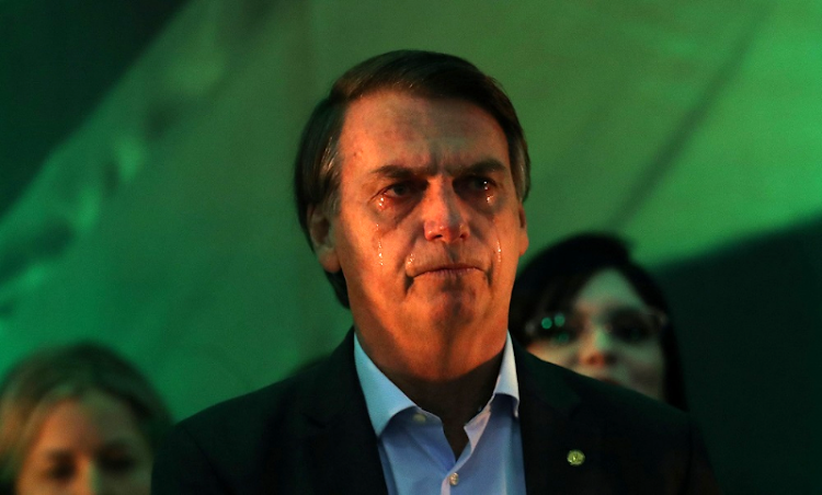 Jair Bolsonaro reacts at the national convention of the Party for Socialism and Liberation in Rio de Janeiro, Brazil, on July 22 2018. Picture: REUTERS
