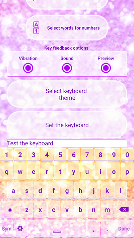 Glitter Emoji Keyboard Changer Screenshot