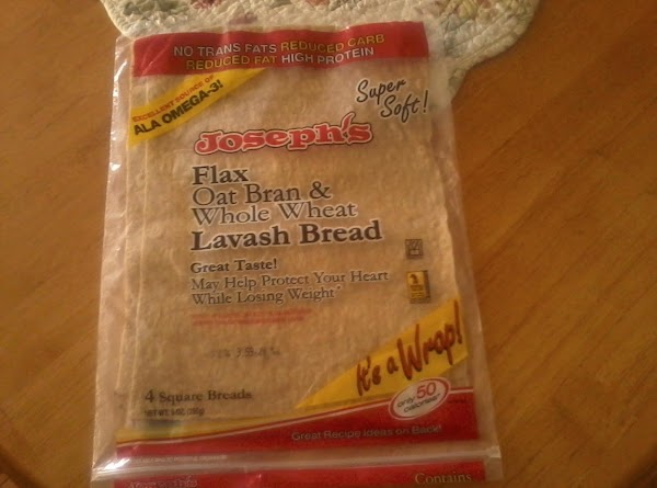 Note:You can usually find the lavash in your grocers deli section or tortilla section.Another...