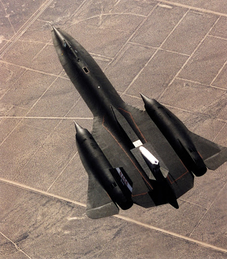 Linear Aerospike SR-71 Experiment (LASRE) first flight view from above