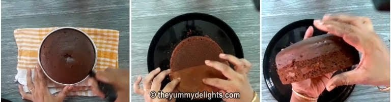 chocolate sponge cake is ready for making black forest cake recipe