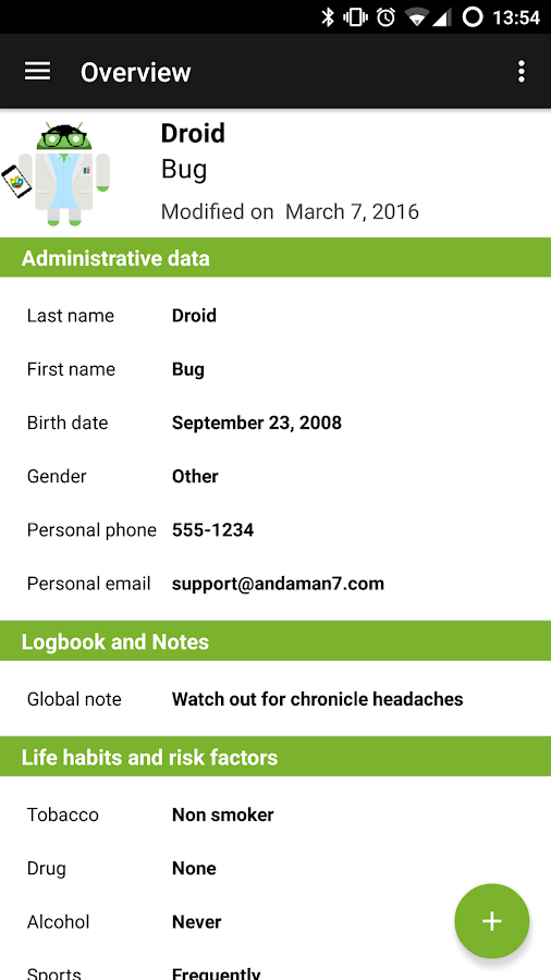 Andaman7 - Sync health records- screenshot