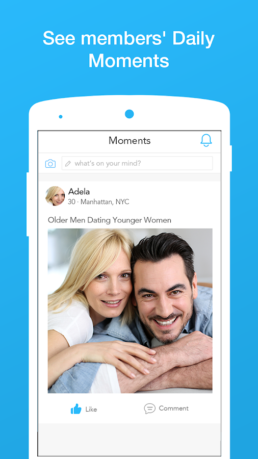 Younger men older women dating apps. Dating for one night.