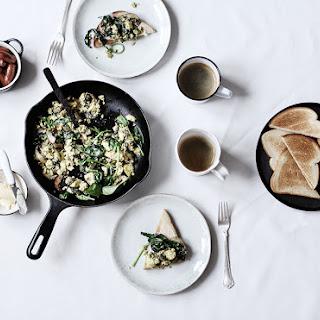 Wild Garlic & Mushroom Scramble