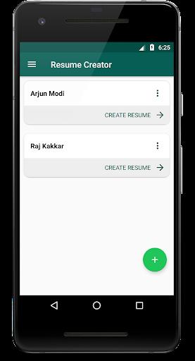 Resume Creator - Phone PDF Creator 1.8 screenshots 1