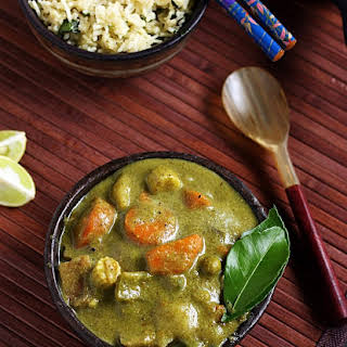 Thai green curry recipe | Vegetarian thai green curry.
