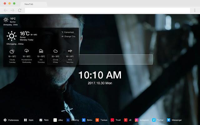 Petyr Baelish Pop HD TV Drama New Tab Theme