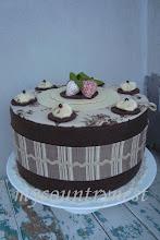 Photo: torta cioccolato e crema, 26 cm