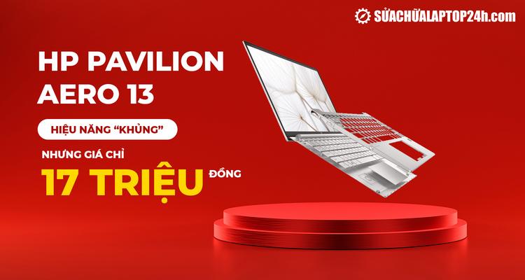 Laptop HP Pavilion Aero 13 lần đầu sở hữu khung nhôm magie cao cấp