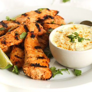 Spicy Coconut Chicken With Coconut Turmeric Dipping Sauce.