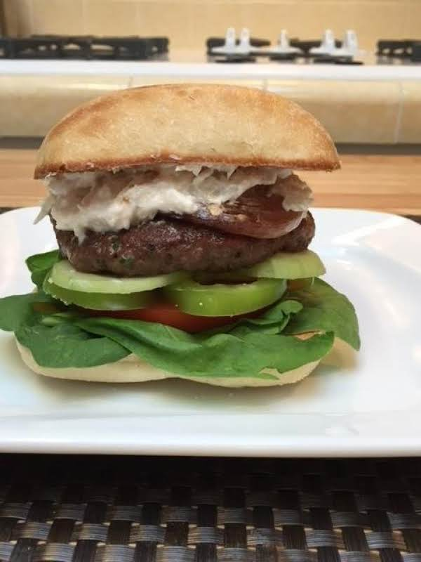 Lamb Burger With Roasted Garlic And Shallot Spread Recipe