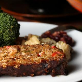 Succulent Vegetable Loaf With Balsamic Glaze (Vegan).