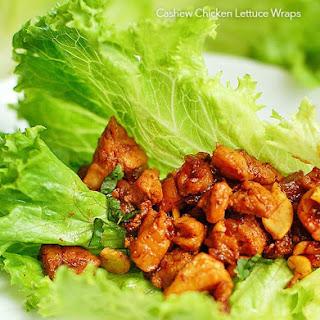 Chicken Cashew Lettuce Wraps.