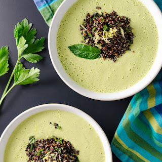 Curried Cucumber Soup with Black Quinoa