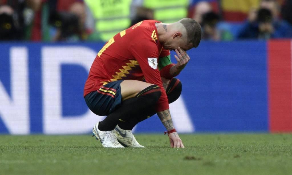 C:\Users\Carla\Desktop\Copa do Mundo 2018 - RUSSIA\Espnh\Espanha x Rússia\Sergio Ramos era a imagem da tristeza  Foto Juan Mabromata AFP.jpg