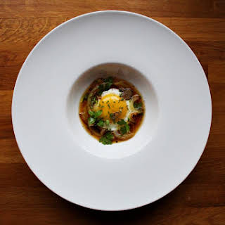 Egg With Truffle Caramelized Onion And Beef Broth #185.