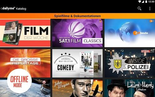 dailyme TV, Serien, Filme & Fernsehen Mediathek Screenshot