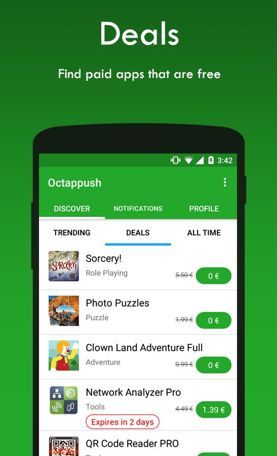 Octappush - Get free apps - στιγμιότυπο οθόνης
