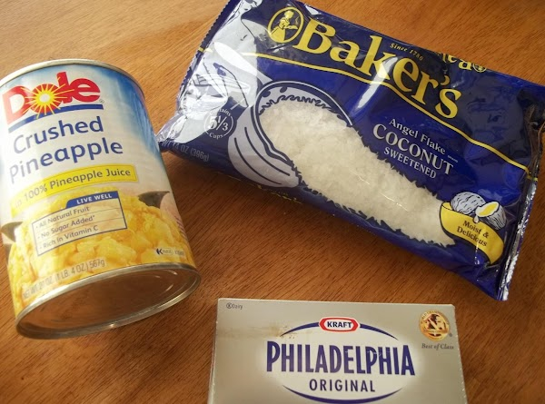 In a small bowl, beat cream cheese and pineapple, until combined. Cover and refrigerate...