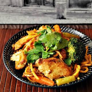Chicken & Vegetables Satay Noodles.