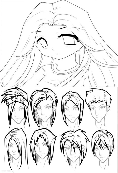 Anime Characters Draw Tutorial Screenshot
