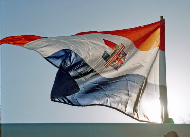 The old orange, white and blue South African flag. File photo.