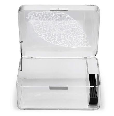 Zino Humidor Acrylic Clear Feuille de Tabac