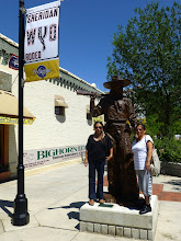 Photo: Statue of Buffalo Bill Cody, famous showman who auditioned in Sheridan.