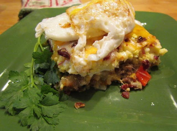 All In One Breakfast Casserole With A Twist Recipe