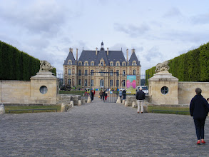 Photo: That entrance leads to the château shown here.