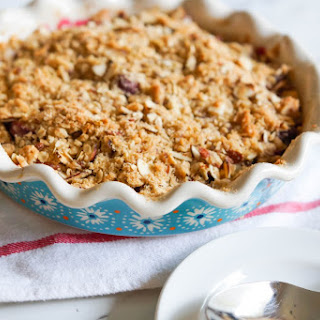 Cherry and Plum Crumble.