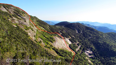 Photo: Route line of our ascent.